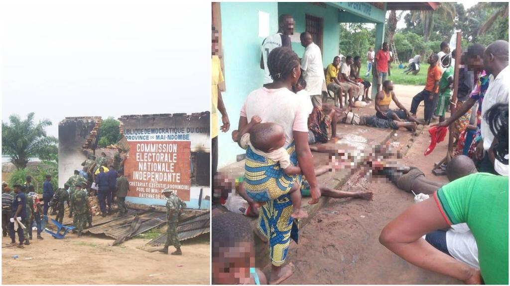 Plusieurs centaines de personnes ont été tuées en territoire de Yumbi, dans la province de Mai-Ndombe, dans l'ouest de la RD Congo, à la mi-décembre, en raisons d'affrontements intercommunautaires. Photos ayant circulé sur les réseaux sociaux.