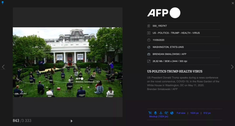 صورة مثبتة من الصورة الموجودة في مكتبة الصور على موقع أ ف ب. صورة التقطها المصور بريندان سميالوسكي لصالح وكالة الأنباء الفرنسية في 11 آيار/ مايو 2020.