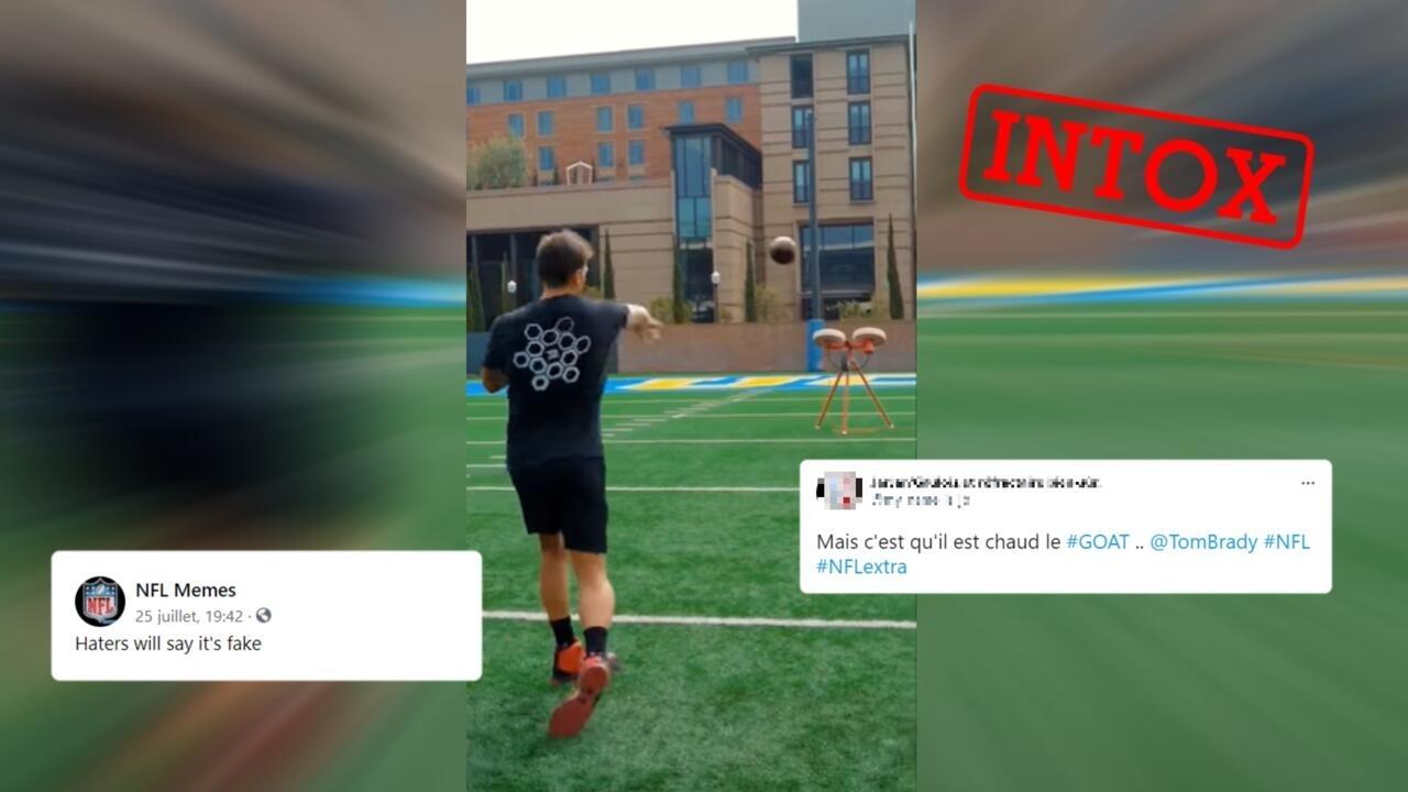 Non, cette vidéo des prouesses du footballeur américain Tom Brady n'est pas réelle