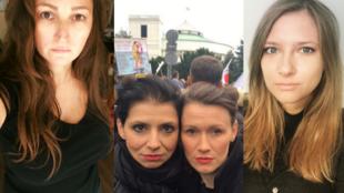 Photos publiées par, de gauche à droite : Agnieszka Morys-Karolak (Facebook), Aleksandra Sniegocka (Twitter : @AleksandraS_G) et Martyna Banasiak (Facebook).