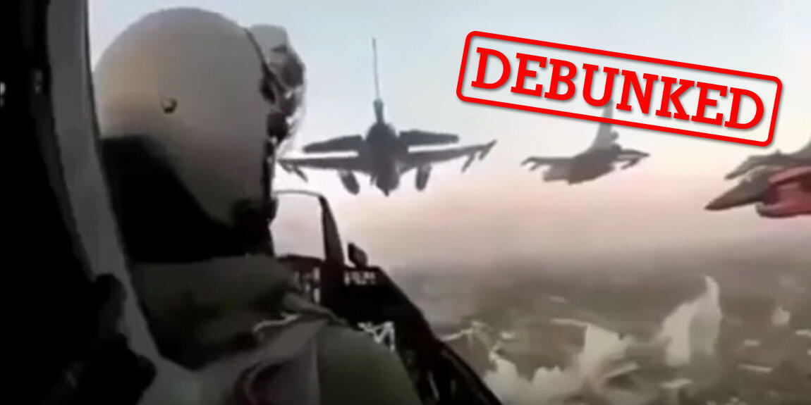 Screengrab of a video purporting to show Turkish planes attacking Afrin. The video was originally posted on a Turkish YouTube channel.