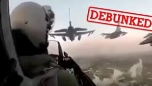 تصویر برگرفته از یک ویدئویی که به دروغ، به عفرین نسبت داده شده