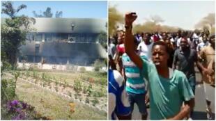 De violents affrontements ont opposé les étudiants de l'Université Gaston Berger de Saint-Louis aux forces de l'ordre, mardi 15 mai.