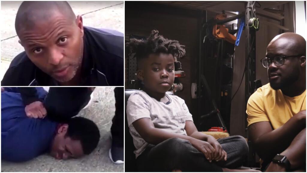 Deux pères afro-américains apprennent à leur fils comment se comporter face à un policier après la mort de George Floyd.