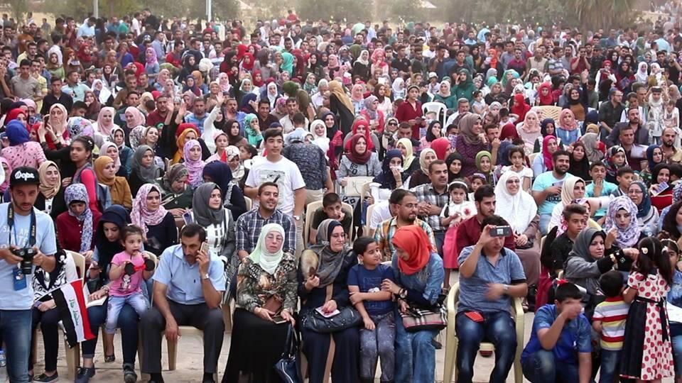 Des centaines de personnes se sont retrouvées mercredi 6 septembre à l'université de Mossoul pour assister à un concert dans le cadre du festival du livre. Photo : Twitter
