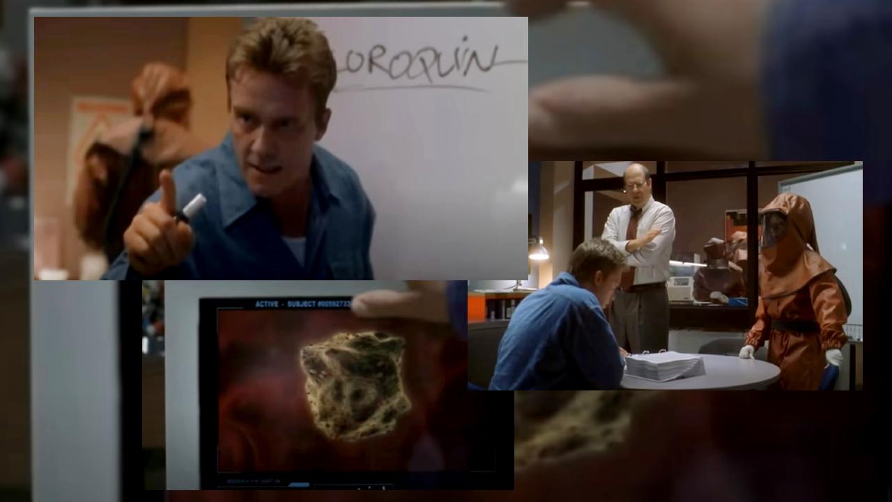 """Une vidéo montre qu'une série datant de 2003 présente un scénario qui ressemble à s'y méprendre à la situation connue en 2020 lors de la pandémie de Covid-19. Capture d'écran Dead Zone, saison 2 épisode 14 """"Plague""""."""