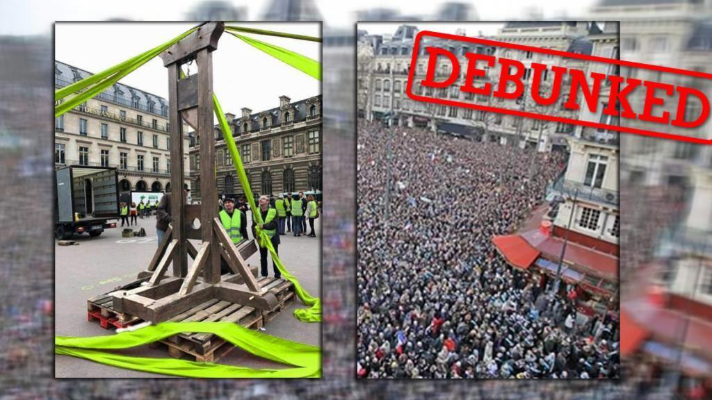Some images that were shared online as showing the Yellow Vest movement in France have been manipulated or taken from another event.