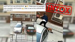 Une vidéo circulant sur les réseaux sociaux à Madagascar entend montrer l'assassinat d'une femme malgache par un homme chinois en Chine. Mais la vidéo n'a rien à voir avec les faits avancés.