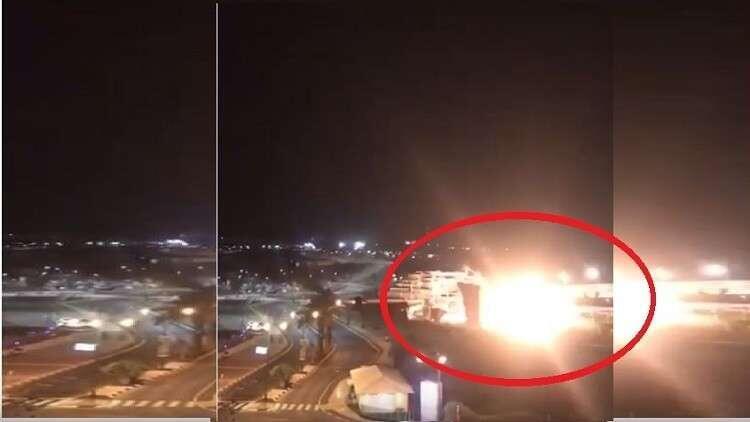 صور شاشة من غارة جوية على مدينة عسقلان غرب القدس من 2018 استخدمت على أنه فيديو لمقتل القائد الايراني قاسم سليماني.
