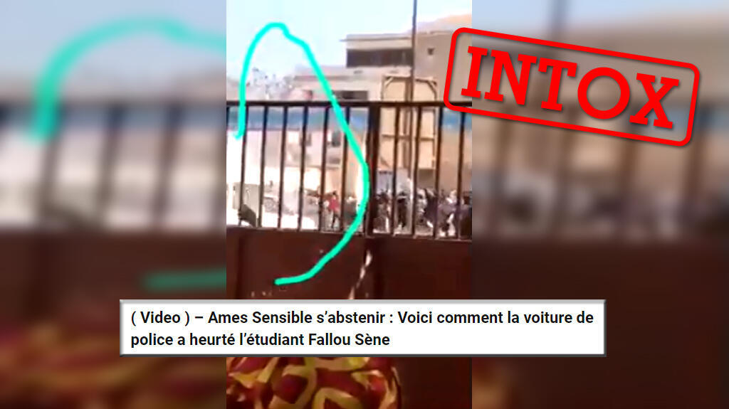 Une vidéo prétendant montrer le moment où Fallou Sène, étudiant de l'université Gaston Berger de Saint-Louis, aurait été tué par un véhicule de police a circulé.