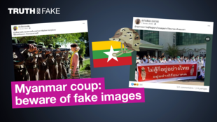 Myanmar coup: beware of fake images