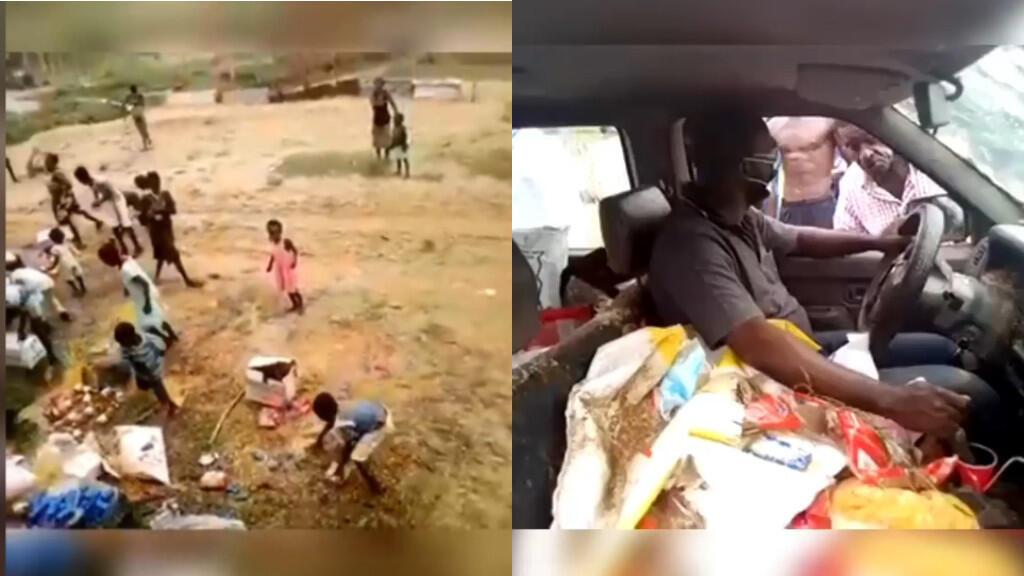 Un préfet renvoyé avec ses dons par les populations du village de Kabaga dans le sud-est du Gabon. Captures d'écran.