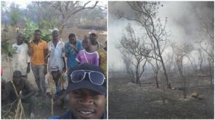 Djibone Sissoko a lancé une association pour lutter contre les feux de brousse dans le cercle de Kita, au Mali. Photos : Djibone Sissoko.