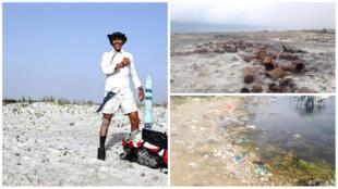 Mohammed Oussama Houij s'est donné comme objectif cet été de nettoyer 300 kilomètres de plages tunisiennes.