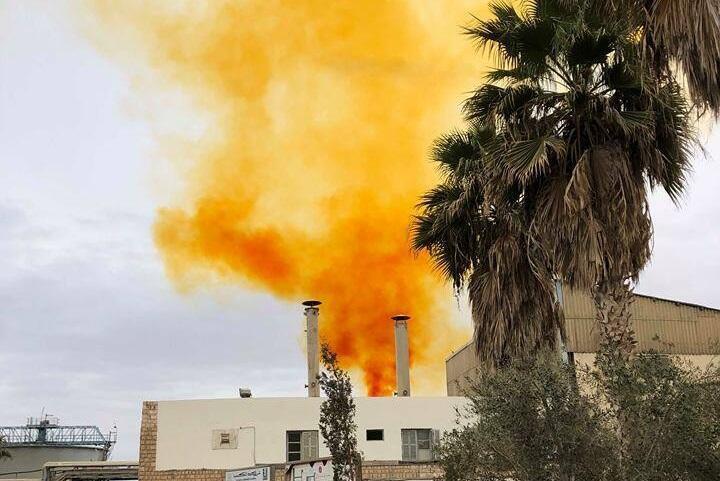 """Photo prise mardi 22 janvier par un membre de la campagne """"Stop pollution"""" à Ghannouch, près de la ville de Gabès."""