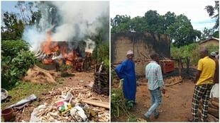 Over the past 40 years, thousands of homes have gone up in flames in Guinea's Fouta-Djalon region and no one knows the source of these mysterious fires. This fire took place in the Gonkou District in September 2019. (Photos: Alpha Ousmane Aob Bah)
