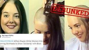A group of conservative, anti-feminist and racist social media users have carried out a strange campaign to get white women to shave their heads in an effort to discredit the Black Lives Matter movement.