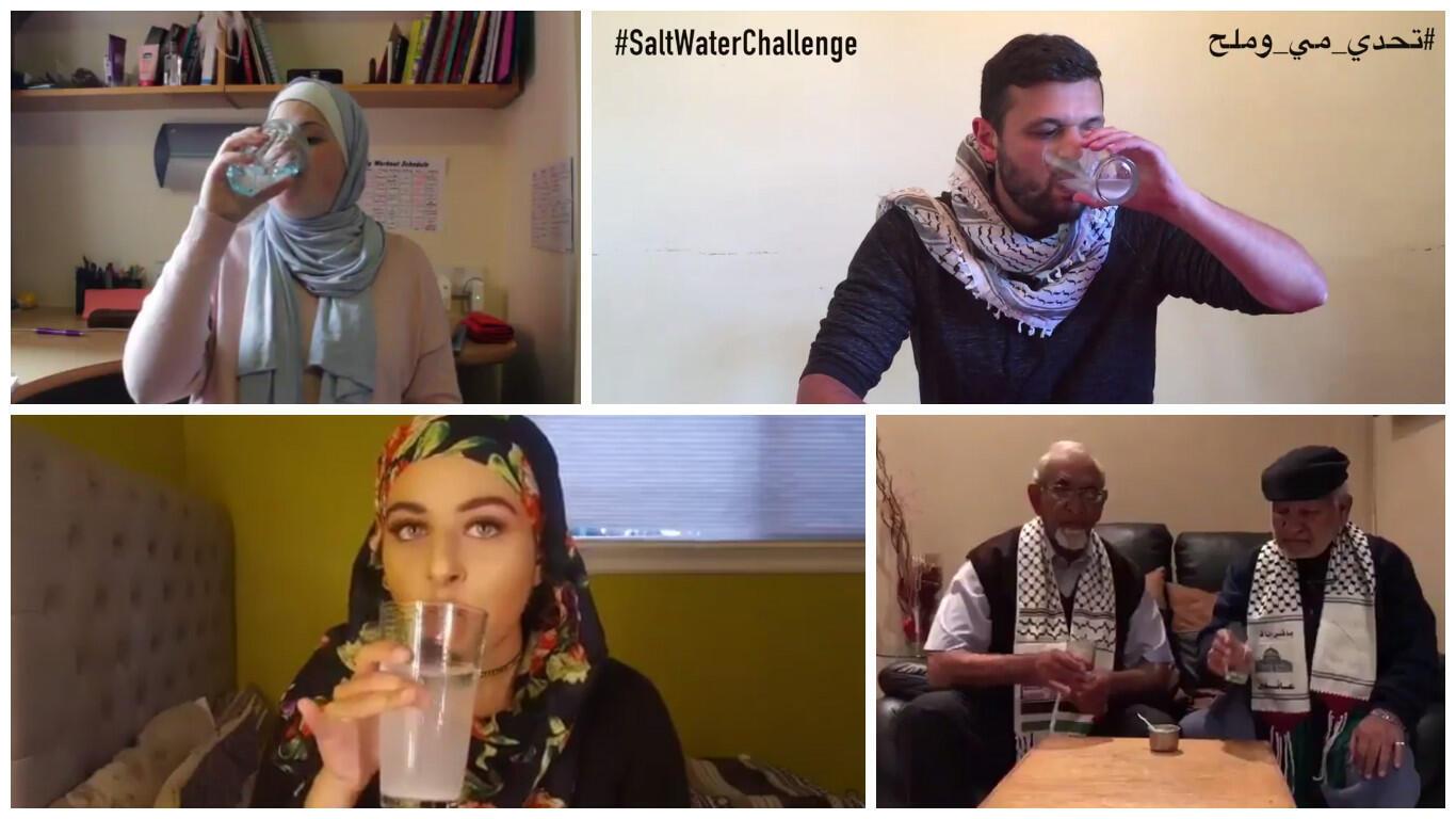 """De nombreux internautes ont participé depuis une semaine au """"Salt Water Challenge""""."""