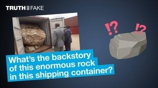 What's the backstory of this enormous rock in this shipping container?