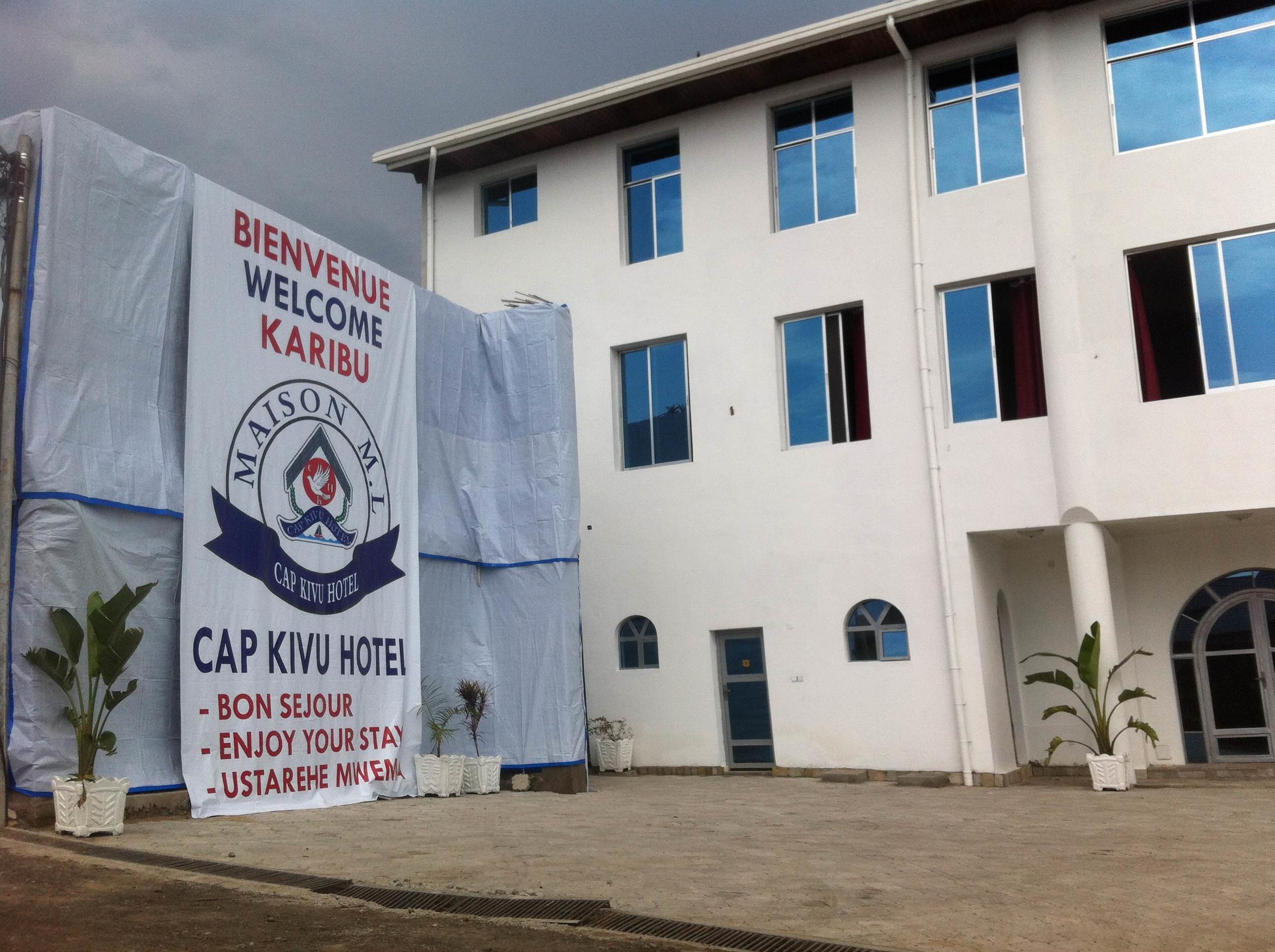 Authorities pressured the owner of the Cap Kivu Hotel to finish renovations in time for the mining conference. Charly Kasereka/Goma