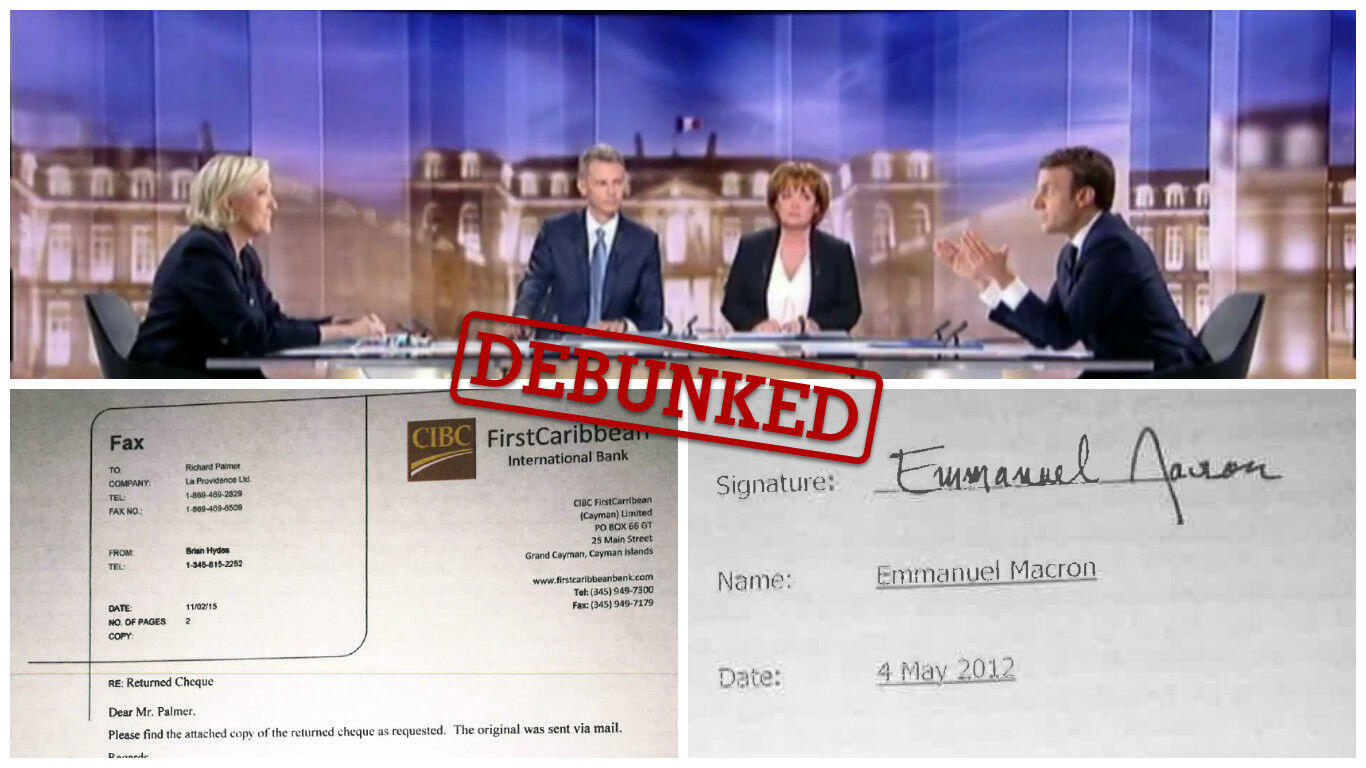 After the presidential debate between candidates Marine Le Pen and Emmanuel Macron held on May 3, shady documents about an offshore account supposedly held by Macron started circulating on social media.