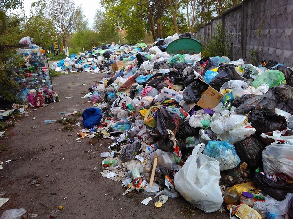 Heaps of rubbish cover the streets of Lviv. (Photo taken by our Observer on May 3, 2017).