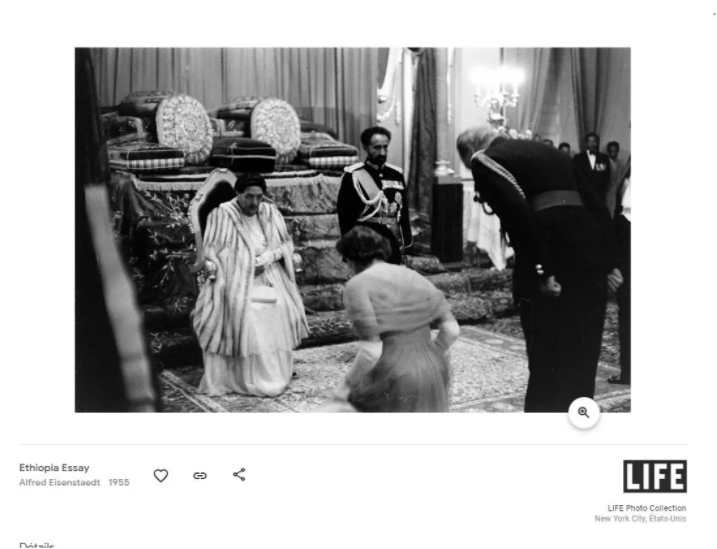 """Screenshot from the """"Ethiopian Essay"""" collection by photographer Alfred Eisenstaedt from 1955"""