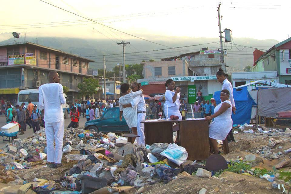 La performance de la Brigade d'intervention théâtrale d'Haïti, le 8 novembre 2018. Crédit : Yves Osner Dorvil