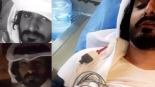 Photos postées sur les réseaux sociaux par Zaïd al-Marri, depuis la fronière entre l'Arabie Saoudite et le Qatar.
