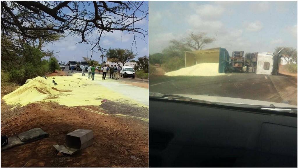 Photos publiées sur Facebook par la plateforme Mboro SOS.