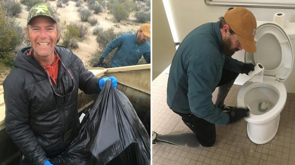 Des volontaires nettoient le parc de Joshua Tree en Californie. Photo publiée sur la page Facebook Friends of Joshua Tree.