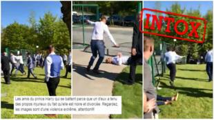 Captures d'écran de la vidéo et de la légende qui lui est associée sur Facebook.