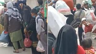 Rohingya refugees fled refugee camps in Jammu in northwestern India after some members of their community were detained and threatened with deportation to Myanmar. © Screengrab of a video posted on the Rohingya Human Rights Initiative Facebook account (ROHRIngya).