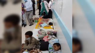 Situation dans l'hôpital Sab'een à Sanaa, au Yémen. Crédit: Unicef, Moohialdin Alzekri