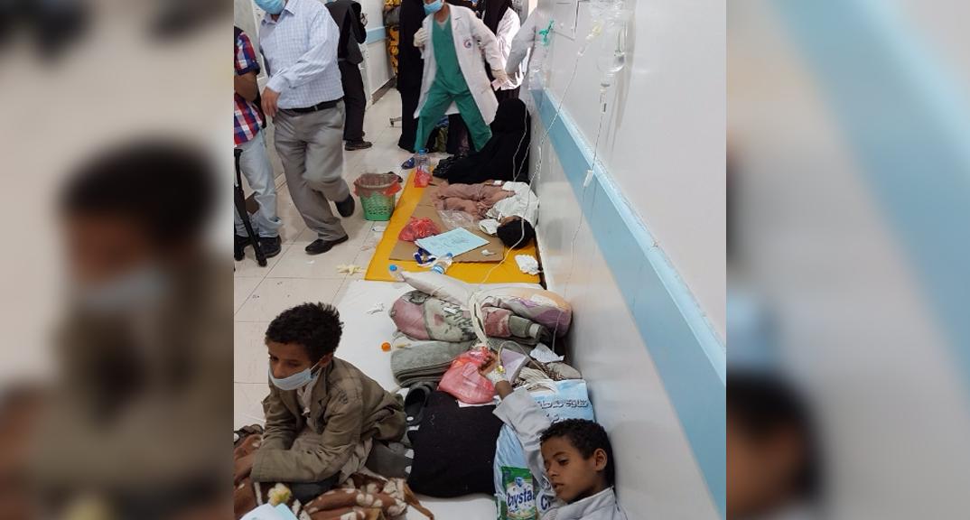 The situation inside Sab'een Hospital in Sana'a, Yemen. Credit: UNICEF, Moohialdin Alzekri