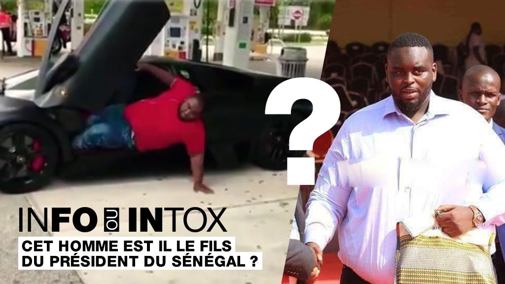 Le fils du président du Sénégal qui sort de sa Lamborghini flambant neuve? Comment une vidéo sortie de son contexte a discrédité le fils de Macky Sall