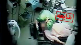 تصویر برگرفته از ویدئویی است که در آن ادعا شده در یک بیمارستان در ایران به دختران در حالت بیهوشی تجاوز شده