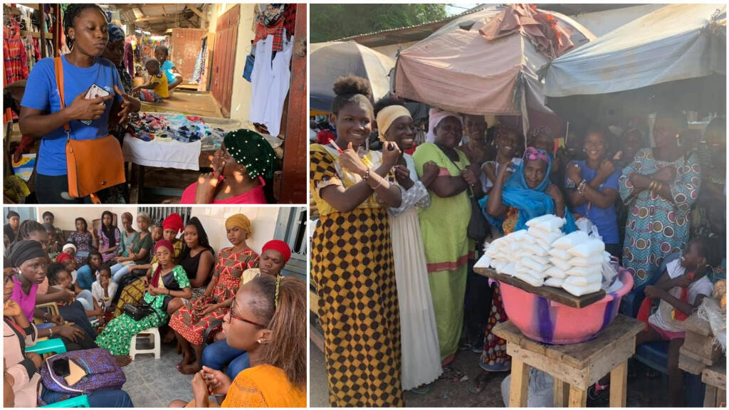 Activists working with the Young Girl Leaders of Guinea Club educate local families about the risks of female genital mutilation. (Club des jeunes filles leaders de Guinée/Facebook)