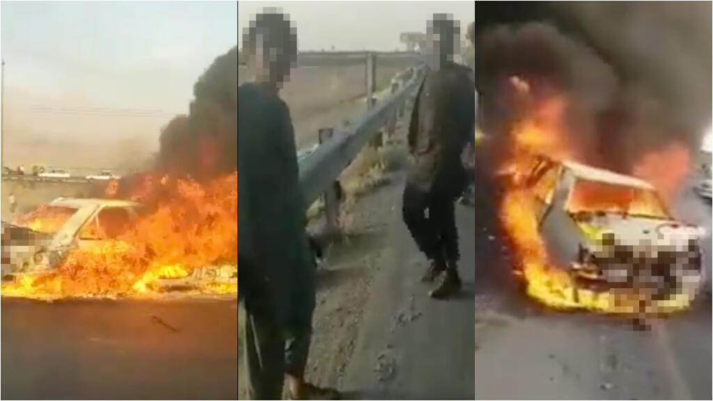 Captures d'écran de l'accident intervenu début juin à la frontière entre l'Iran et l'Afghanistan.