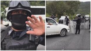 Captures d'écran des vidéos de Lenin Ocampo Torres (gauche) et d'Alina Cienfuegos (droite), visibles dans le corps de l'article.