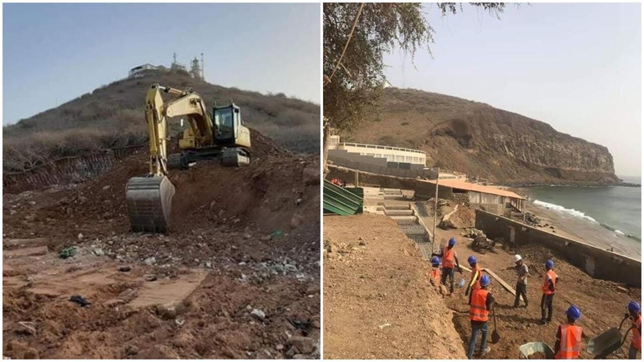 Photos à l'appui, des Sénégalais dénoncent les constructions sur le littoral de Dakar. Photos envoyées par nos Observateurs.