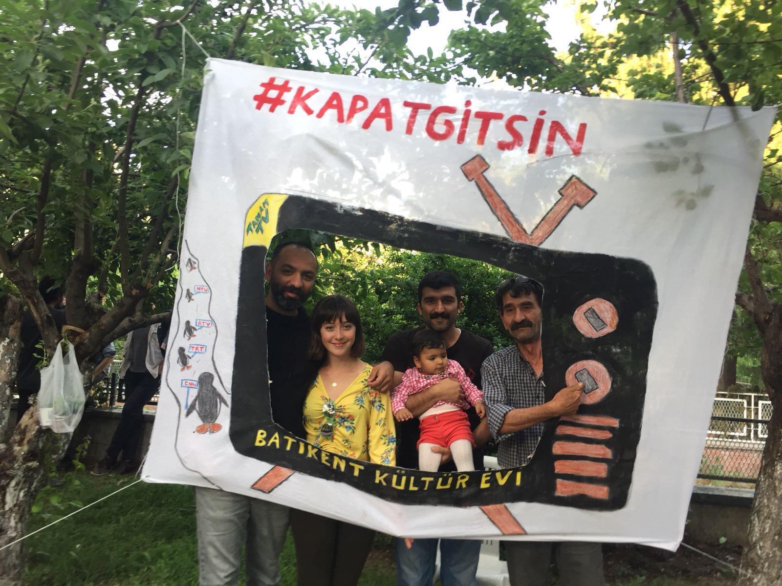 Photo prise par notre Observatrice lors d'un rassemblement à Ankara, le 19 mai 2018.