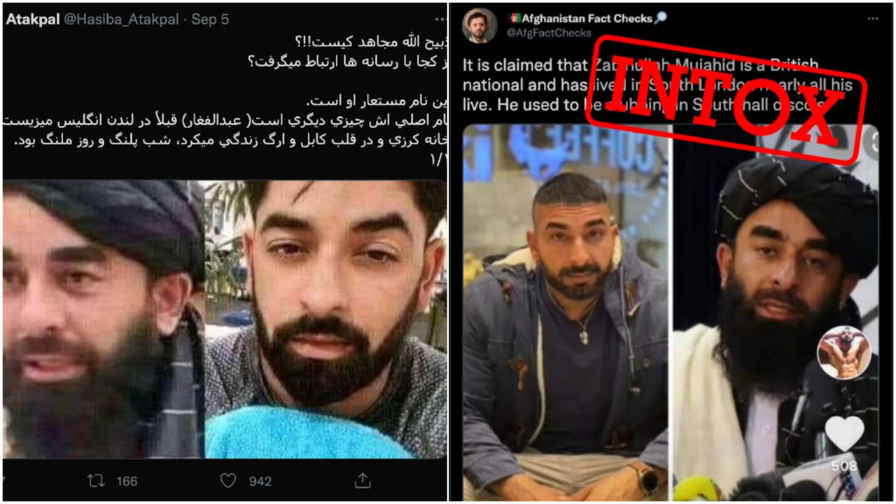 Ces photos prouvent-elles que le porte-parole des Taliban en Afghanistan mène une double vie ?