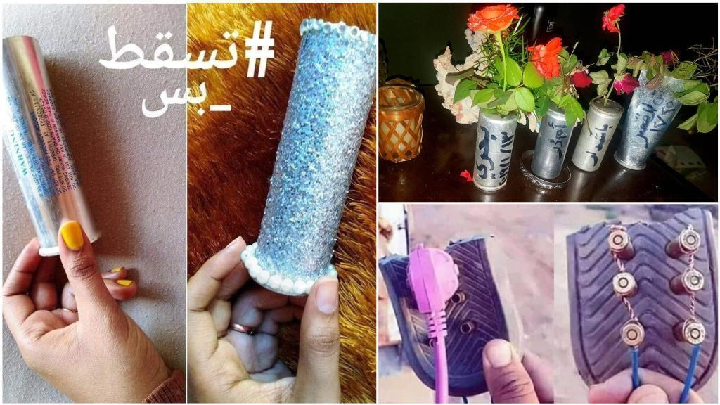 Flower pots and electrical connectors are just some of the objects that Sudanese people have been making from empty canisters left over from tear gas, which was used on protesters.