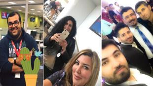 Photos postées sur Twitter par des internautes arabes et kurdes.