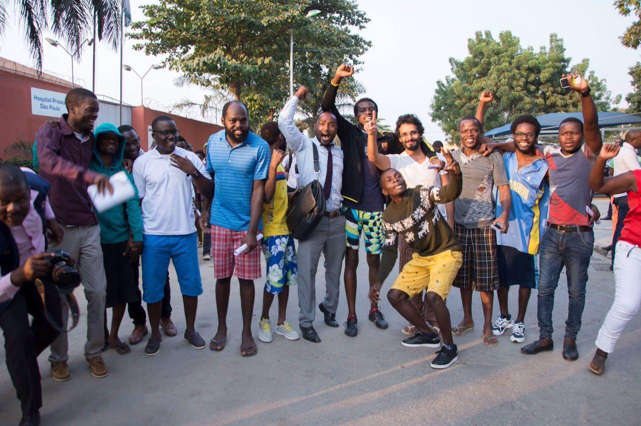 16 des 17 activistes sont sortis de prison mercredi 29 juin. Photo envoyée par un Observateur membre du comité de soutien.