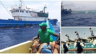 Trawlers from the Fu Yuan Yu fleet, as photographed by our Observers in Djibouti.