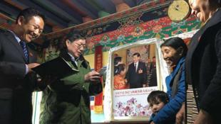 A shrine to Xi Jinping. (Courtesy of Free Tibet)