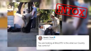 Le président américain Donald Trump a relayé cette vidéo le 11 novembre prétendant montrer des bulletins non comptés en Californie. Que montre vraiment cette vidéo ?