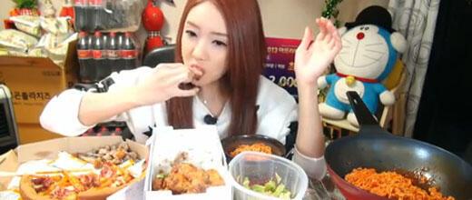 Screen shot of The Diva's Mok-bang YouTube channel